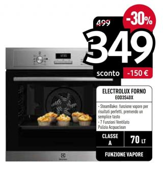 ELECTROLUX FORNO INCASSO EOD3S40X
